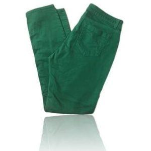 NY&C Green Curvy Skinny Jean Sz 12